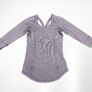 Free People Gray Distressed Top Open Back Small